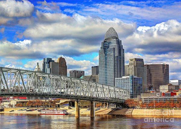 Photograph - Cincinnati Skyline 2012 by Jeremy Lankford