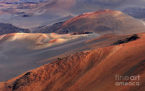 Haleakala Crater Photograph - Cinder Cones Haleakala Volcano by Bob Christopher