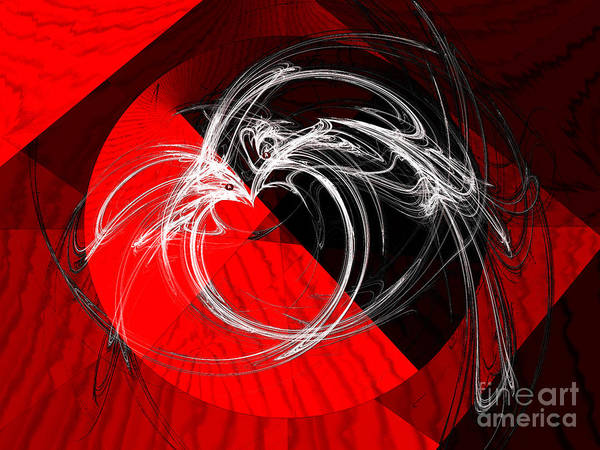 Wall Art - Digital Art - Circle Of Love Edgy Night by Andee Design