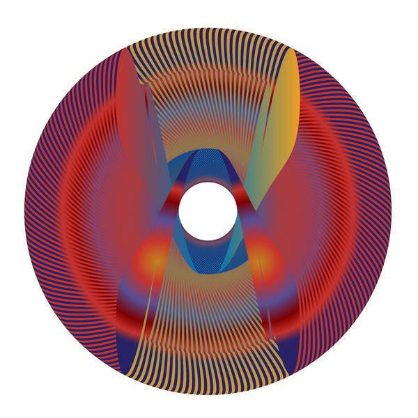 Digital Art - Circle Study No. 69 by Alan Bennington