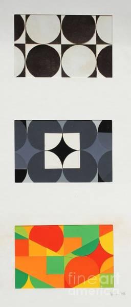 Complimentary Colors Mixed Media - Circle Trio by Vonda Lawson-Rosa