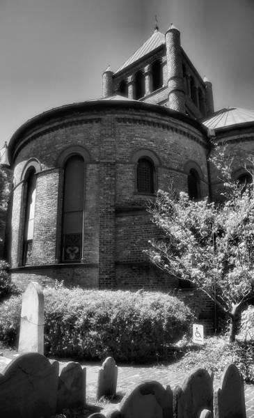 Grave Yard Photograph - Circular Congregational Church One by Steven Ainsworth