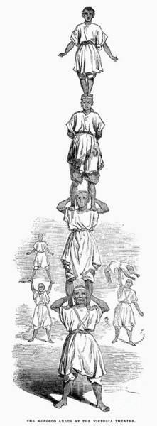 Photograph - Circus: Acrobats, 1843 by Granger