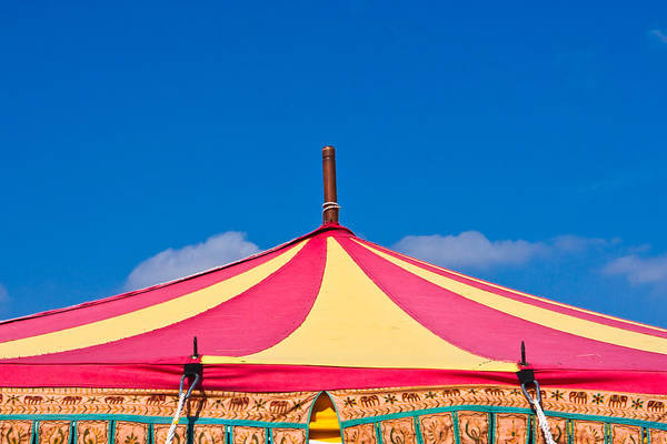 Cheer Photograph - Circus Tent Top  by Tom Gowanlock