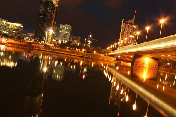Donau Photograph - City Lights by Sonja Bonitto