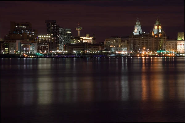 Grace Cathedral Photograph - City Of Liverpool At Night by Wayne Molyneux