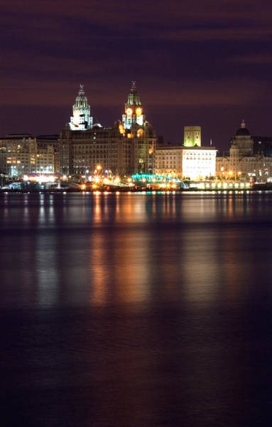 Grace Cathedral Photograph - City Of Liverpool Skyline by Wayne Molyneux