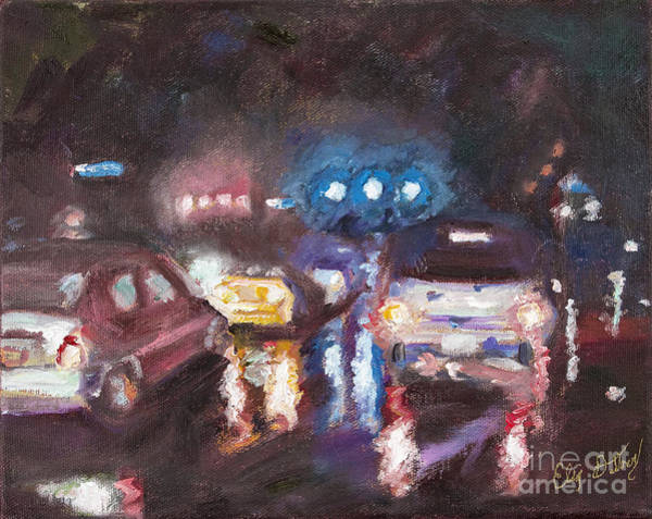 Traffic Signals Painting - City Slicker by Liz Dettrey
