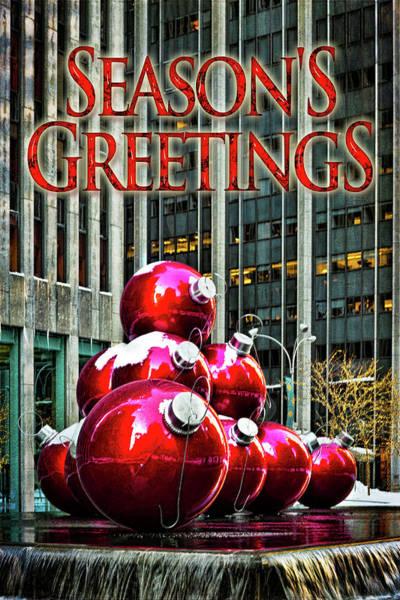 Photograph - City Style Seasonal Greetings by Chris Lord