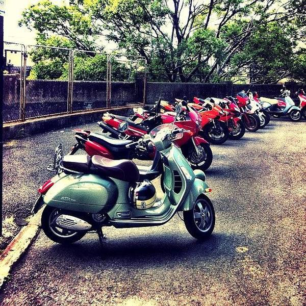 Vehicle Photograph - #city #sydney #motorbike #moped by Glen Offereins