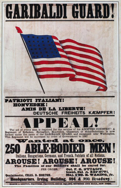 Italian Immigrants Wall Art - Photograph - Civil War: Recruitng, 1861 by Granger