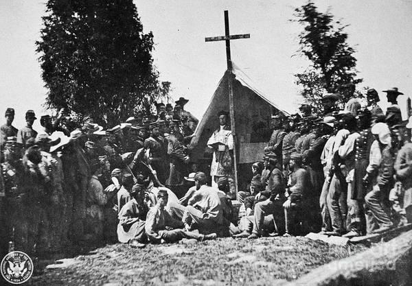 Militiaman Photograph - Civil War: Religion by Granger
