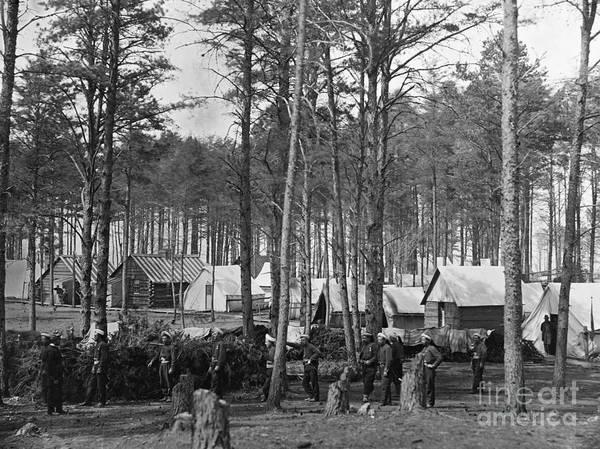 Photograph - Civil War: Union Camp, 1864 by Granger