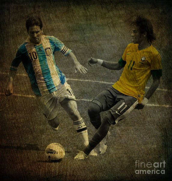 2010 Fifa World Cup Wall Art - Photograph - Clash Of The Titans II by Lee Dos Santos