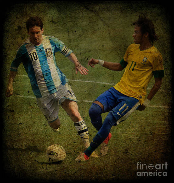 2010 Fifa World Cup Wall Art - Photograph - Clash Of The Titans Iv by Lee Dos Santos