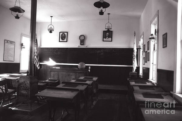 Photograph - Class Room Inside View Calico California by Susanne Van Hulst