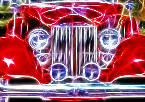 Wall Art - Photograph - Classic Buick Roadster - Fractal by Steve Ohlsen