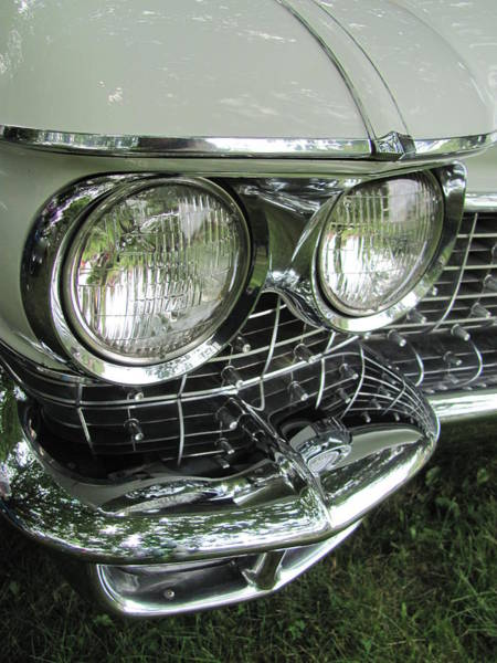Photograph - Classic Car - White Grill 1 by Anita Burgermeister