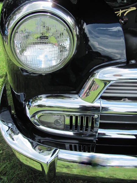 Photograph - Classic Car Black Grill 1 by Anita Burgermeister