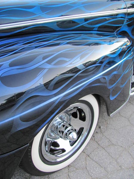 Photograph - Classic Car Blue Flame 2 by Anita Burgermeister