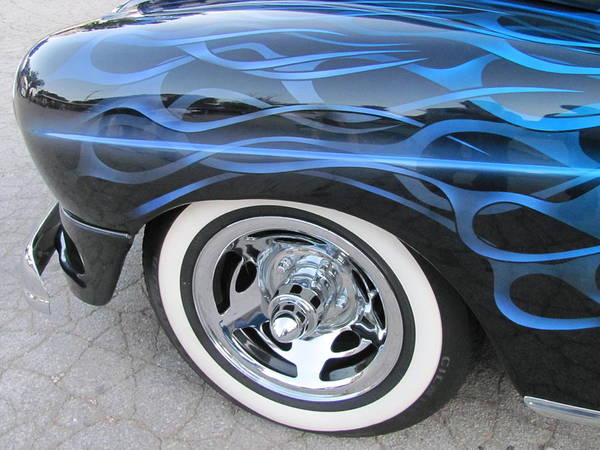 Photograph - Classic Car Blue Flame 4 by Anita Burgermeister