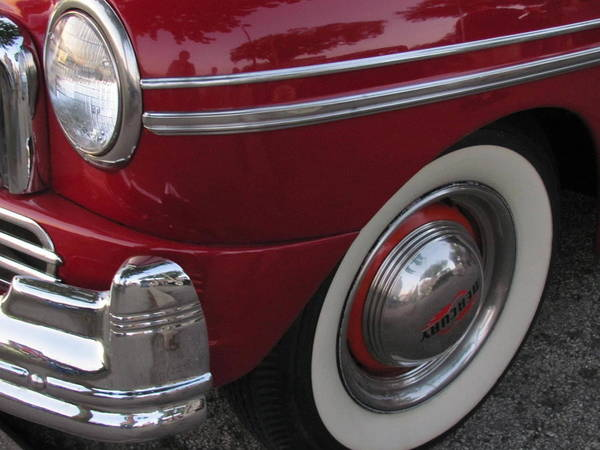 Photograph - Classic Car Mercury Red 3 by Anita Burgermeister