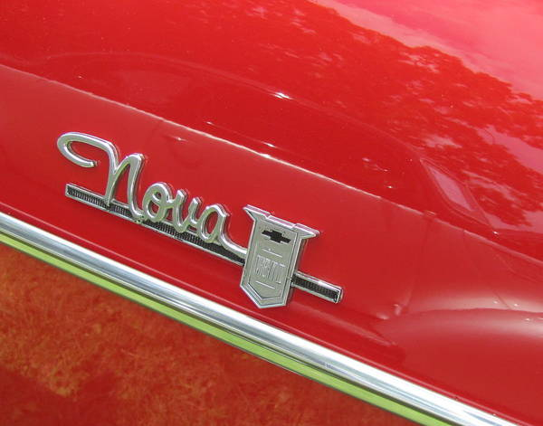 Photograph - Classic Car Red Nova by Anita Burgermeister