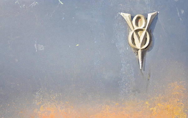 Photograph - Classic Car V8 Emblem by Carolyn Marshall