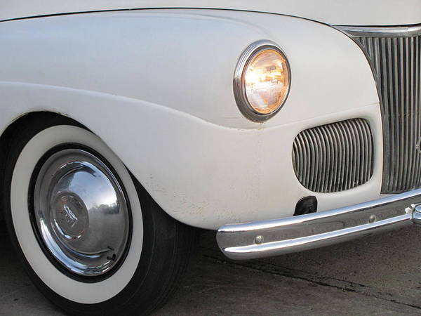 Photograph - Classic Car White 3 by Anita Burgermeister