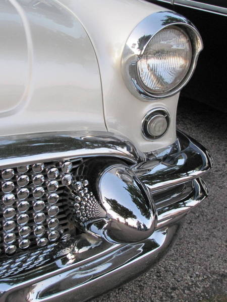 Photograph - Classic Car White 4 by Anita Burgermeister