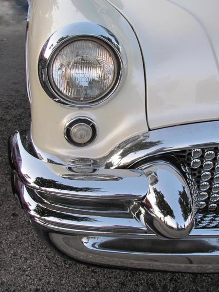 Photograph - Classic Car White 5 by Anita Burgermeister