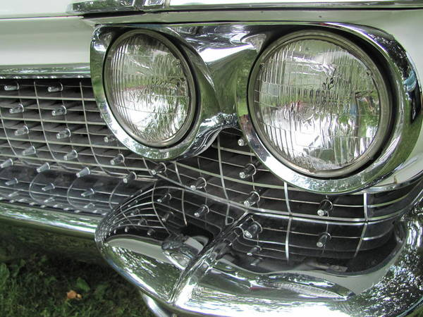 Photograph - Classic Car White Grill 2 by Anita Burgermeister