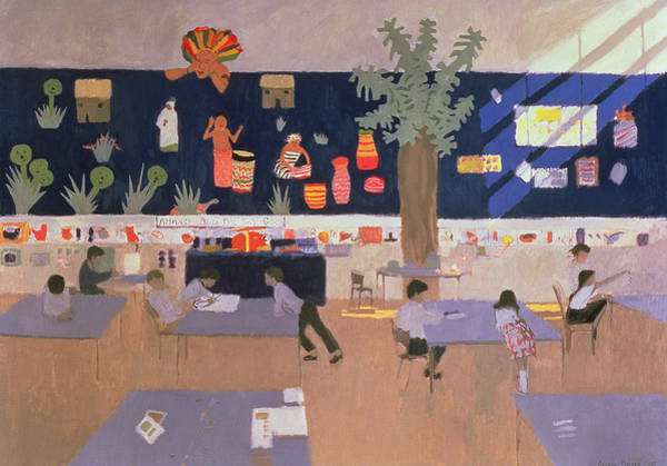 Classroom Painting - Classroom by Andrew Macara