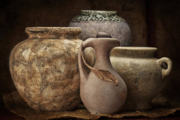 Vases Photograph - Clay Pottery I by Tom Mc Nemar