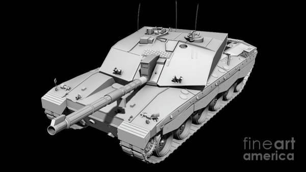 Artillery Digital Art - Clay Render Of A Challenger II Tank by Rhys Taylor