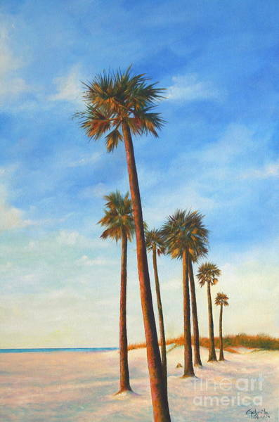 Wall Art - Painting - Clearwater Beach Scene by Gabriela Valencia
