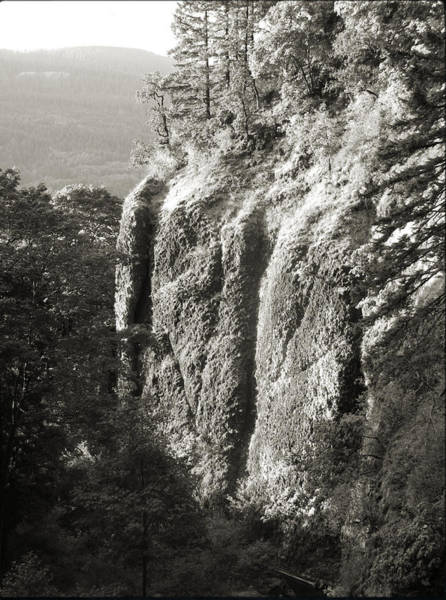 Cliff Face Columbia River Gorge  Art Print