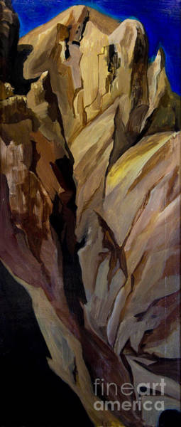 Painting - Cliff Tunnel by Richard Fritz