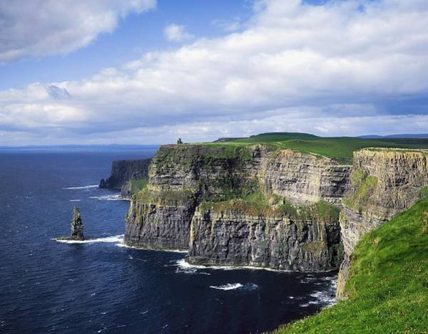 Horizontally Photograph - Cliffs Of Moher, Co Clare, Ireland by The Irish Image Collection
