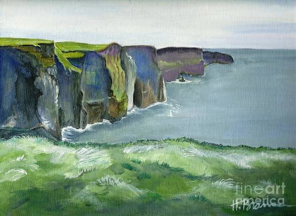 Holly Brannan Wall Art - Painting - Cliffs Of Moher by Holly Bartlett Brannan