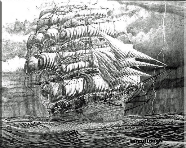 Photograph - Clipper In The Storm Filtered by Duane McCullough