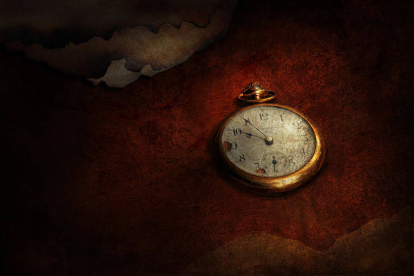 Photograph - Clock - Time Waits For Nothing  by Mike Savad