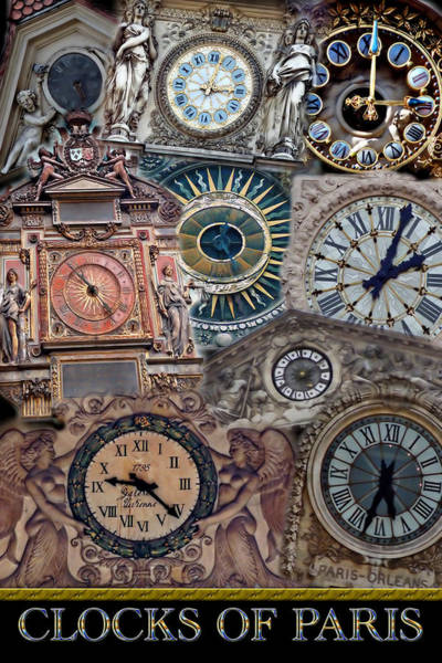 Photograph - Clocks Of Paris by Andrew Fare