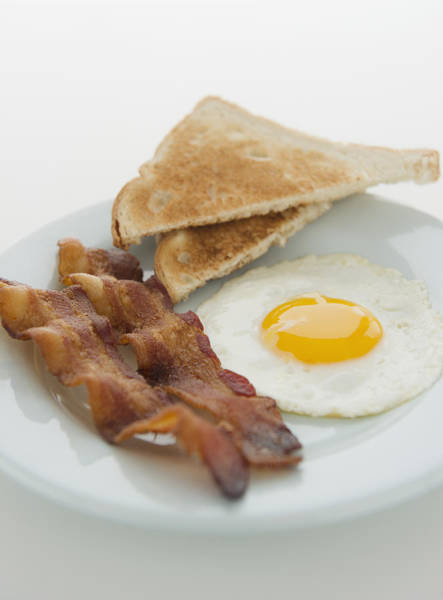 Sunny Side Up Wall Art - Photograph - Close Up Of English Breakfast, Studio Shot by Jamie Grill
