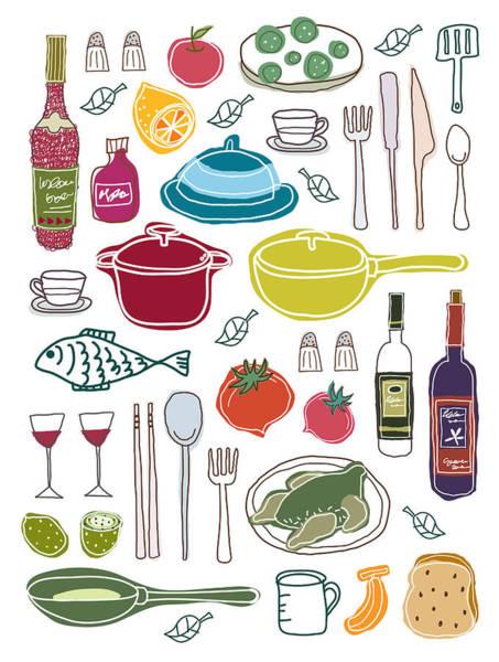 Fork Digital Art - Close-up Of Food Stuff by Eastnine Inc.