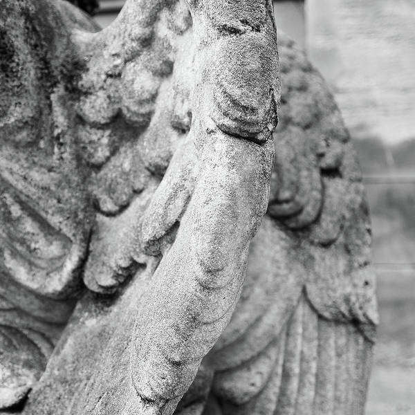 The Past Photograph - Close Up Of Wing Of Statue, Germany by This Is About My Way To See Light & Form In 2 Dimensions