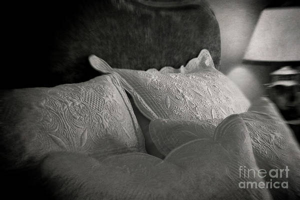 Photograph - Close-up Pillows In Vintage Looking Bedroom by Sandra Cunningham
