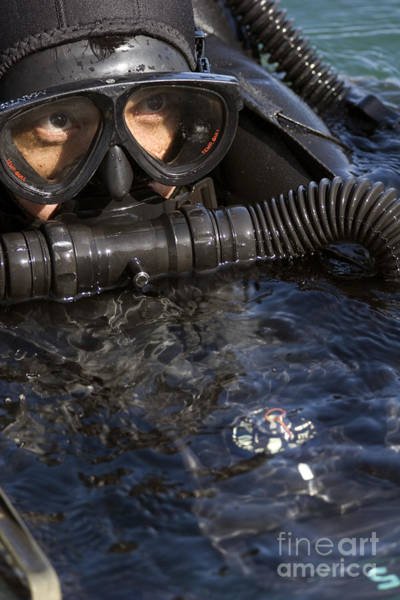 Special Operations Forces Photograph - Close-up View Of A U.s. Navy Seal by Michael Wood