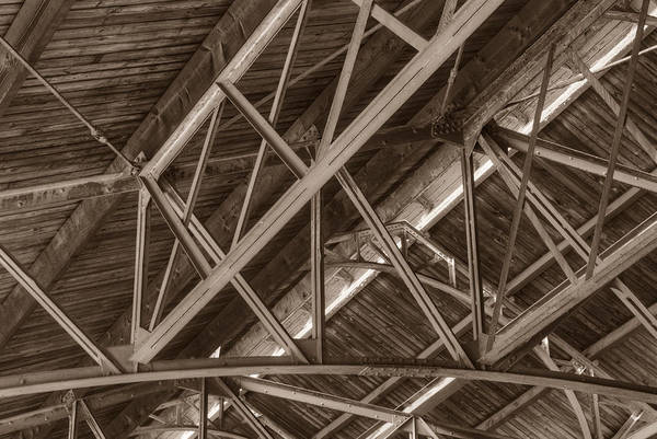 Photograph - Closeup Of Trusses by Dennis Dame