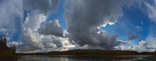 Clouds And River Edmonton Art Print